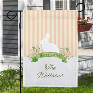 Personalized Happy Easter Garden Flag | Easter Garden Flags