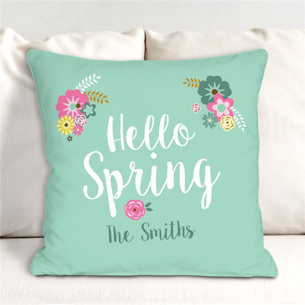 Spring Throw Pillow | Personalized Spring Throw Pillows