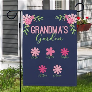Personalized Spring Floral Garden Flag | Personalized Spring Garden Flags