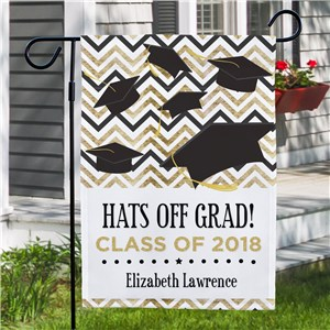 Personalized Hats Off Grad Garden Flag 830125802X