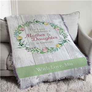 Personalized Love Between Mother and Daughter Tapestry Throw | Personalized Mother's Day Gifts