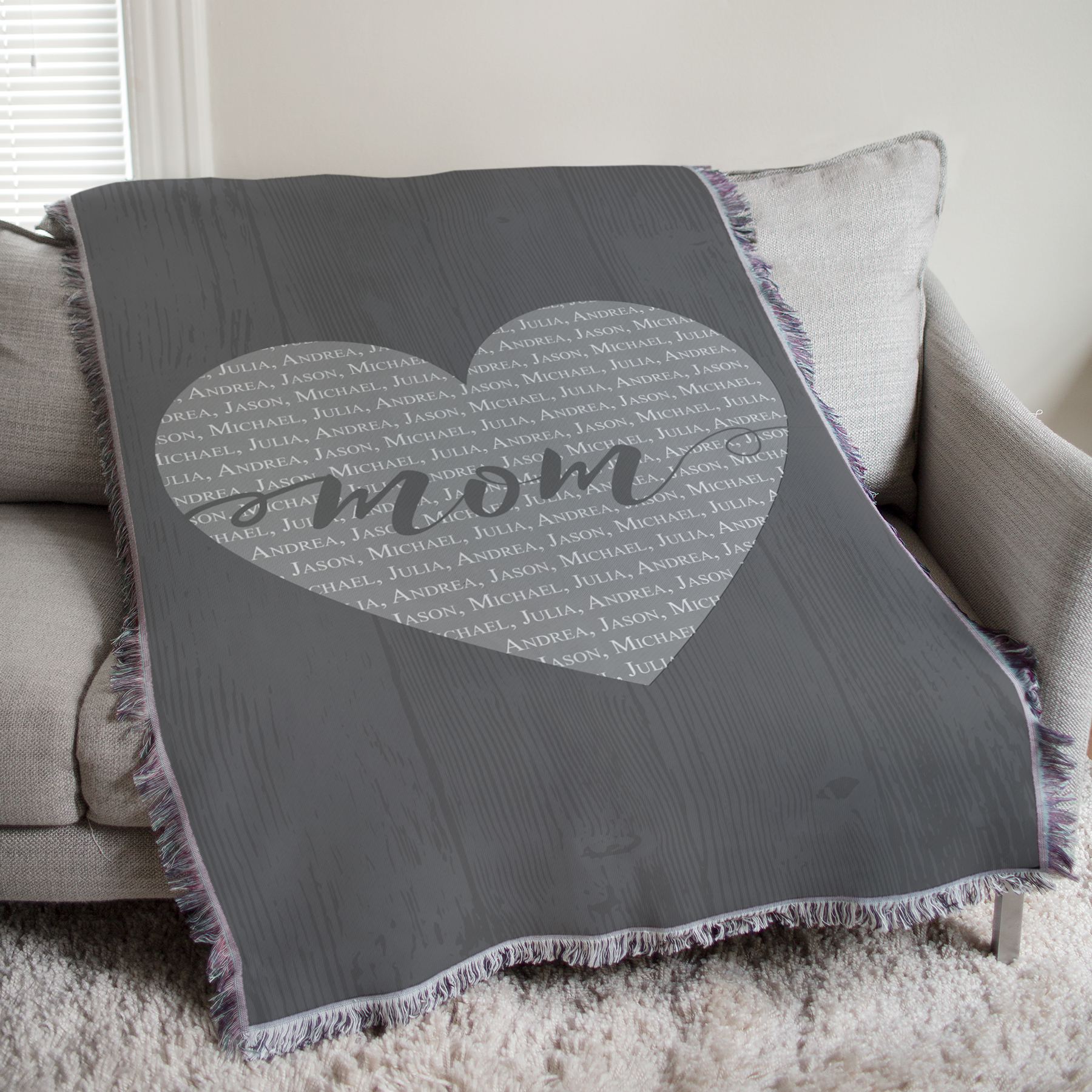 Personalized Mom Tapestry Throw | Personalized Blankets For Mom