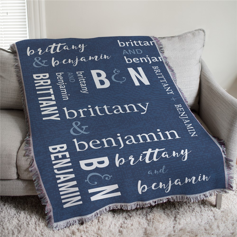 Personalized Couples Wedding Tapestry Throw | Personalized Wedding Blanket