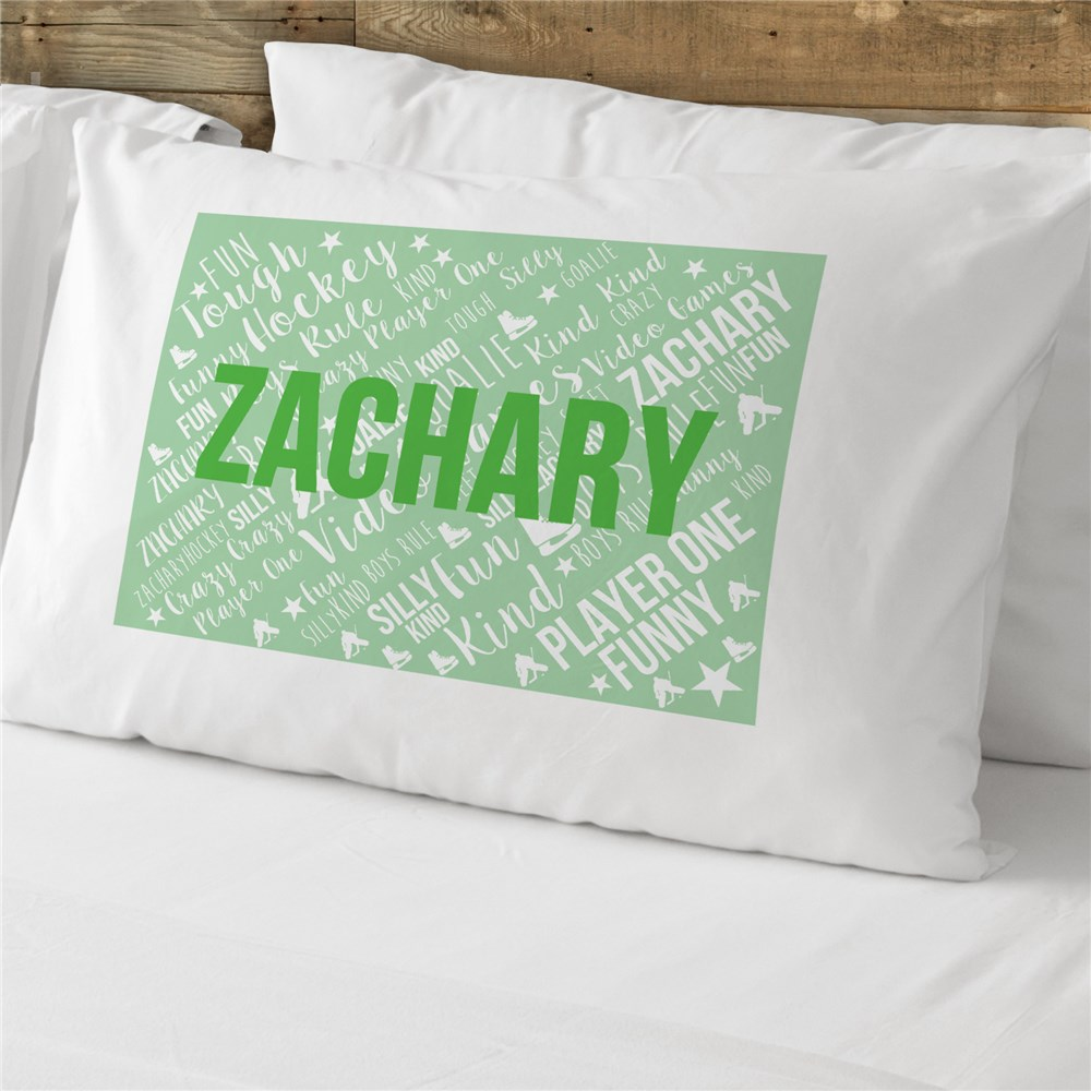 Personalized Kids Word-Art Pillow Case | Personalized Pillowcases For Kids