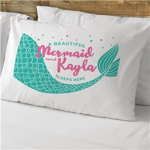 Personalized Mermaid Pillowcase | Personalized Pillowcases For Kids