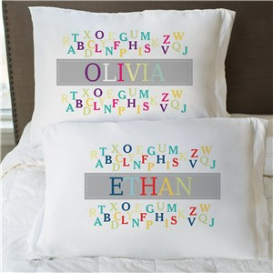 Personalized Alphabet Pillow Case | Personalized Pillowcases For Kids