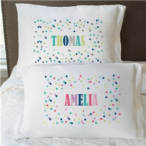 Personalized Polka Dots Pillowcase | Personalized Pillowcases For Kids