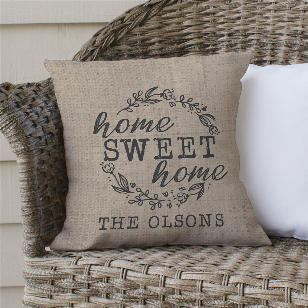 Home Sweet Home Personalized Throw Pillow | Personalized Throw Pillows