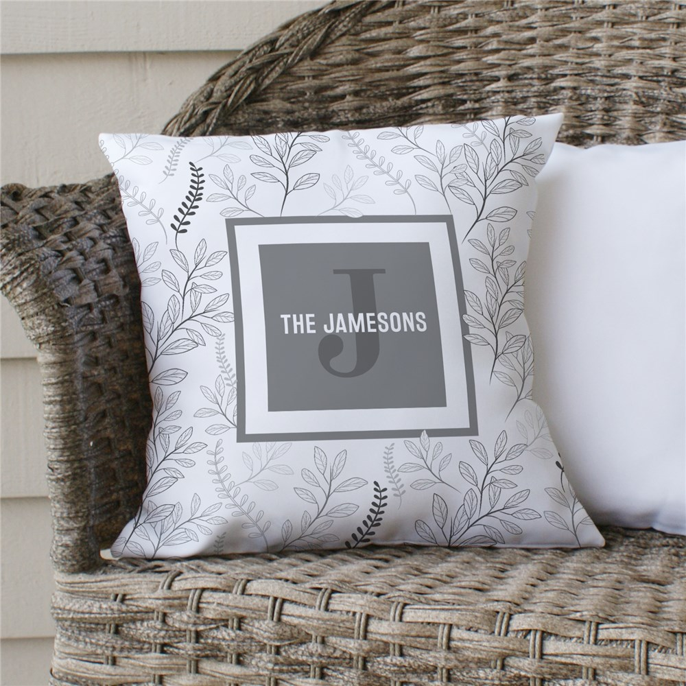 Floral Personalized Throw Pillow | Personalized Throw Pillows