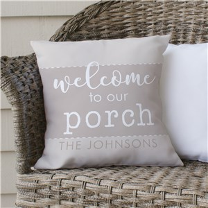 Personalized Porch Pillow | Personalized Porch Decor