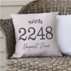 Address Throw Pillow | Outdoor Address Pillow