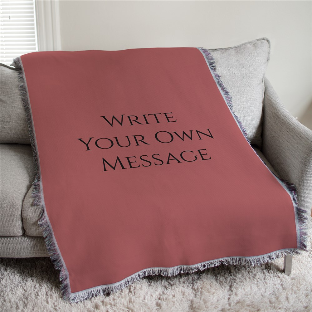 Personalized Write Your Own Tapestry Throw | Personalized Blankets