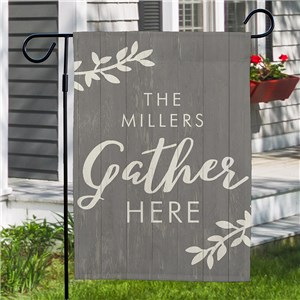 Gather Here Personalized Garden Flag | Family Name Personalized Flags