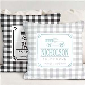 Personalized Farmhouse Throw Pillow | Personalized Throw Pillows
