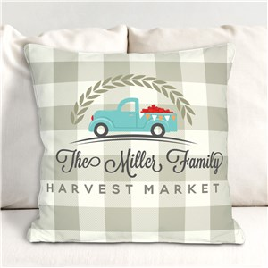 Harvest Market Personalized Throw Pillow | Personalized Throw Pillows