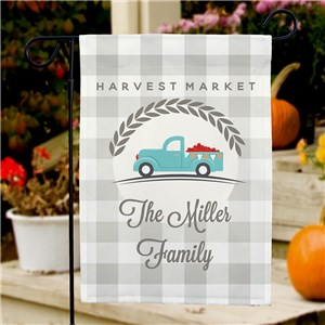 Personalized Garden Flag | Harvest Market | Personalized Garden Flags For Fall