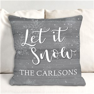 Let It Snow Personalized Throw Pillow | Christmas Pillows