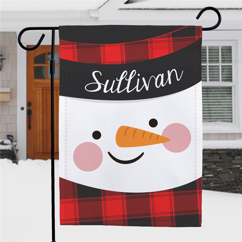 Personalized Snowman Garden Flag | Personalized Garden Flags