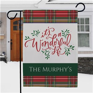 Its A Wonderful Life Personalized Garden Flag | Christmas Garden Flags
