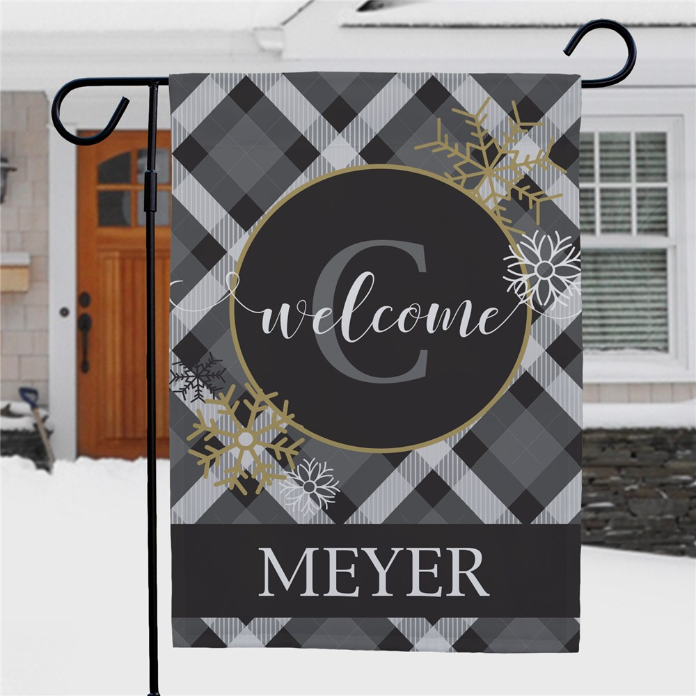 Personalized Dashing Through The Snow Welcome Garden Flag | Personalized Garden Flags
