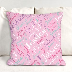 Personalized Throw Pillows | Girls Room Personalized Decor
