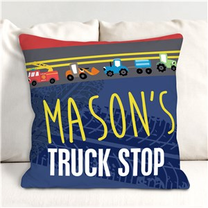 Kids Personalized Room Decor | Kids Truck Bedding