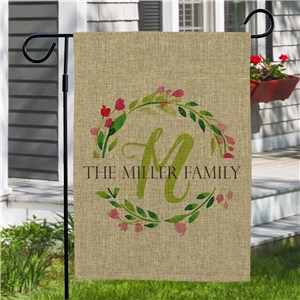 Spring Garden Flags | Personalized Burlap Garden Flags