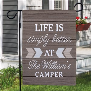 Custom Garden Flags | LIfe Is Better Personalized Garden Flag