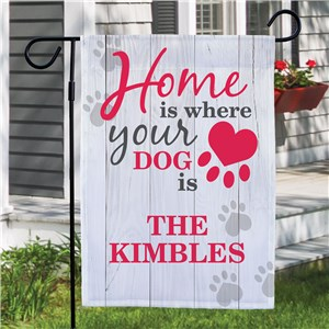 Custom Pet Garden Flags | Home Is Where Your Dog Is Flag