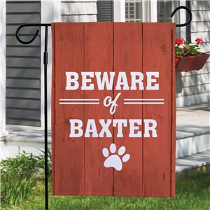 Custom Garden Flags | Beware of Pet Warning Flag