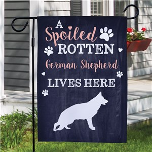 Spoiled Dog Decor | Personalized Garden Flags For Dogs