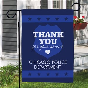 Personalized Thank You Police Garden Flag