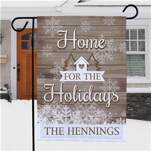Personalized Holiday Flags | Home For The Holidays Outdoor Decor