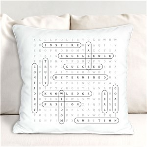 Personalized Throw Pillow | Word-Search Personalized Throw Pillow