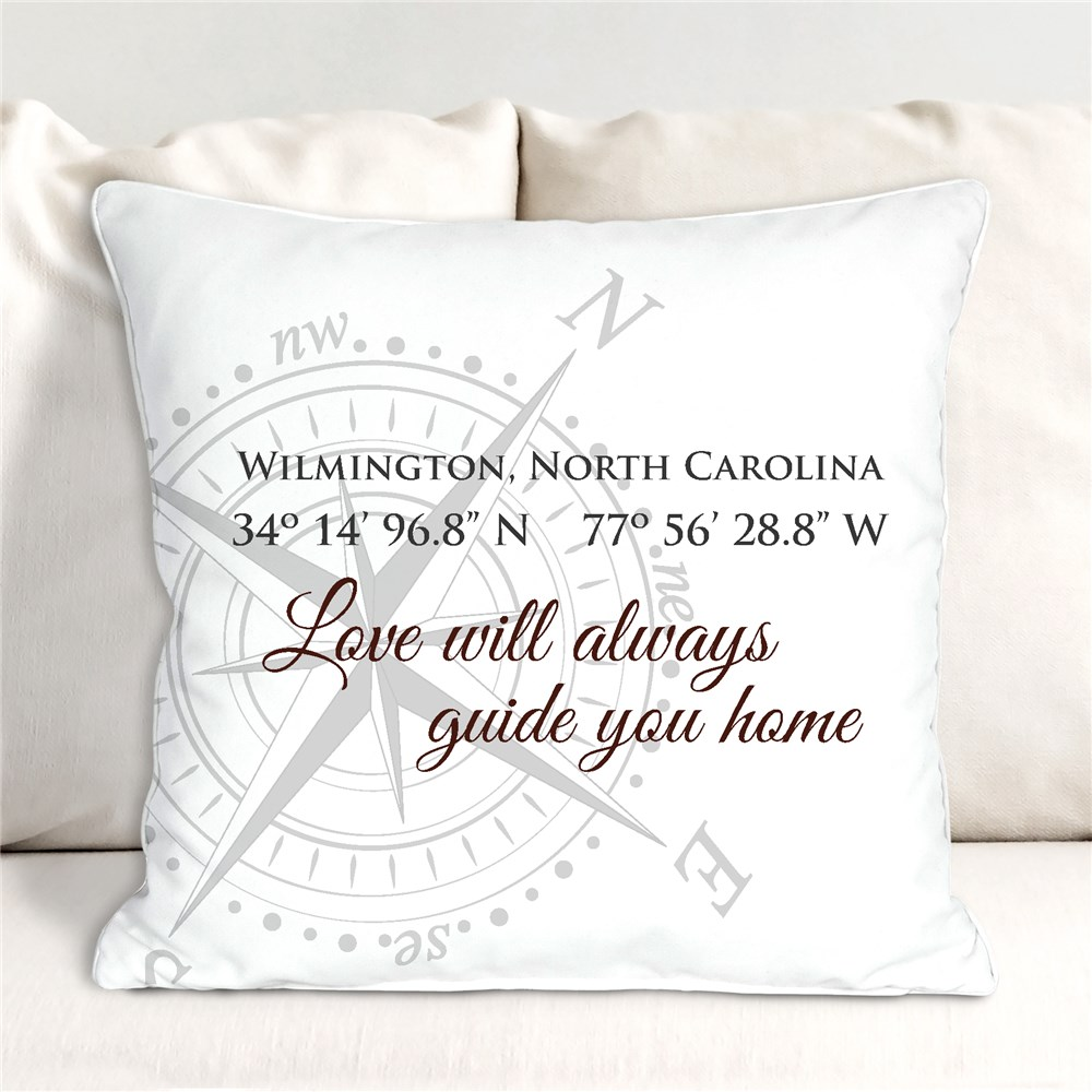 Personalized Throw Pillows | Compass Throw Pillow