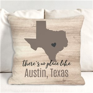 Personalized There's No Place Like Symbol Throw Pillow