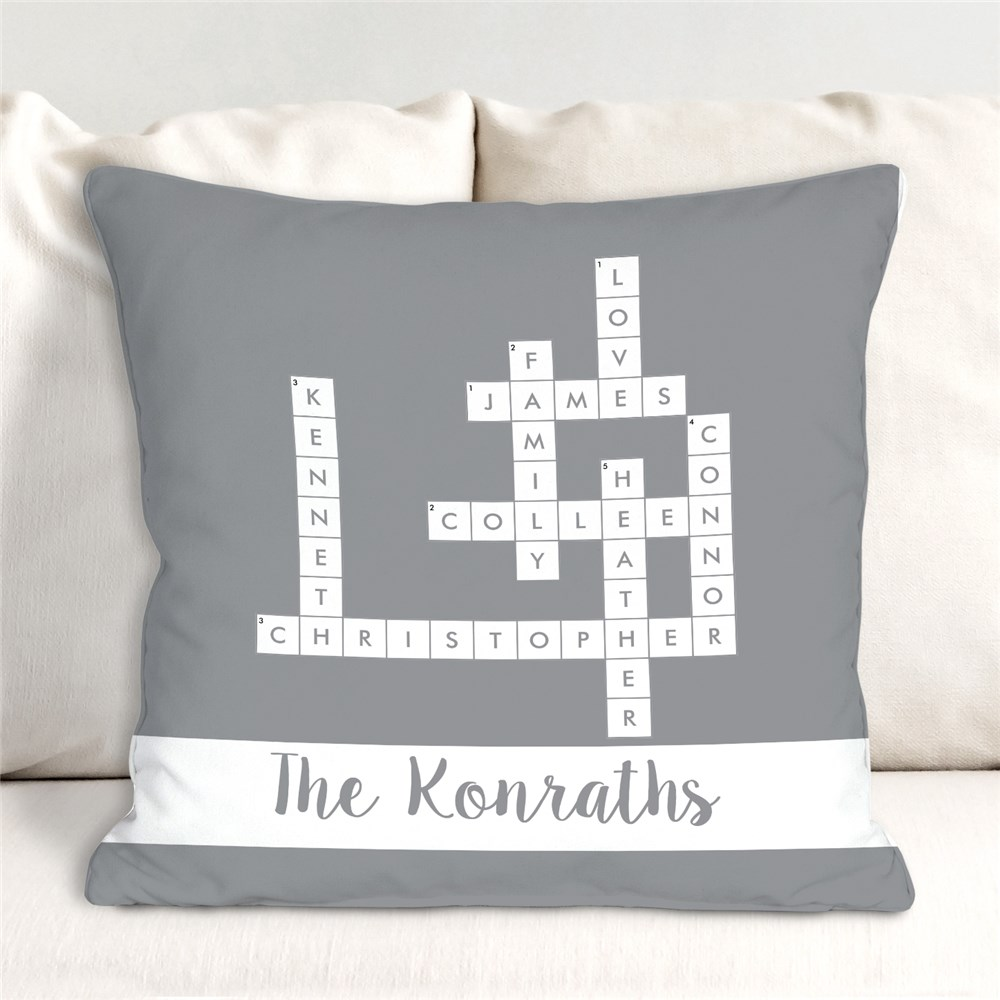 Personalized Crossword Throw Pillow | Personalized Throw Pillow