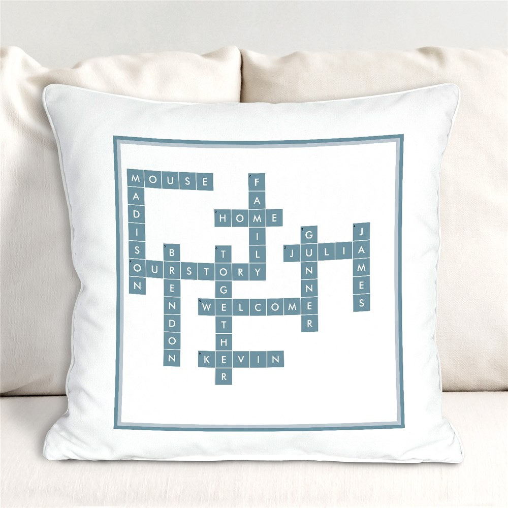 Personalized Throw Pillows | Crossword-Themed Gifts