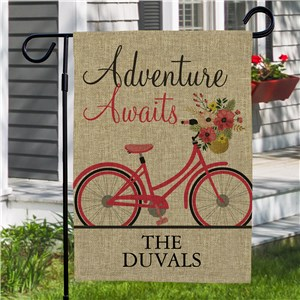 Personalized Valentine Garden Flags | Adventure Awaits Garden Flag