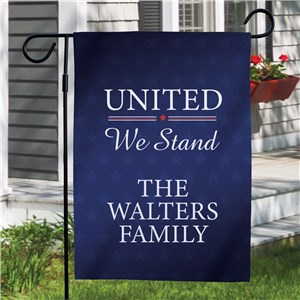 Personalized United We Stand Garden Flag 830163352X