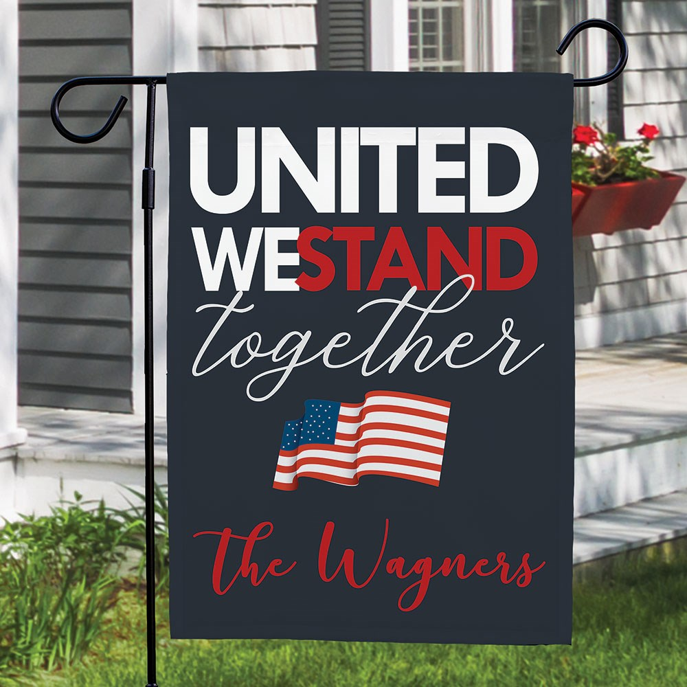 Personalized United We Stand Together Garden Flag 830163362X