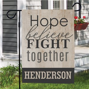 Hope Believe Fight Personalized Garden Flag