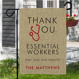 Thank You Essential Workers Garden Flag