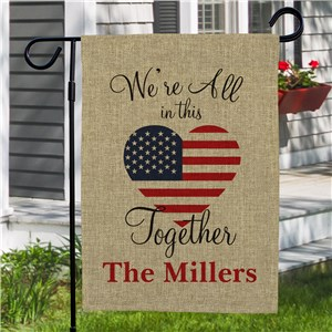 In This Together Patriotic Garden Flag