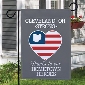 Personalized Hometown Heroes Garden Flag
