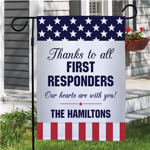 Thank You First Responders Garden Flag