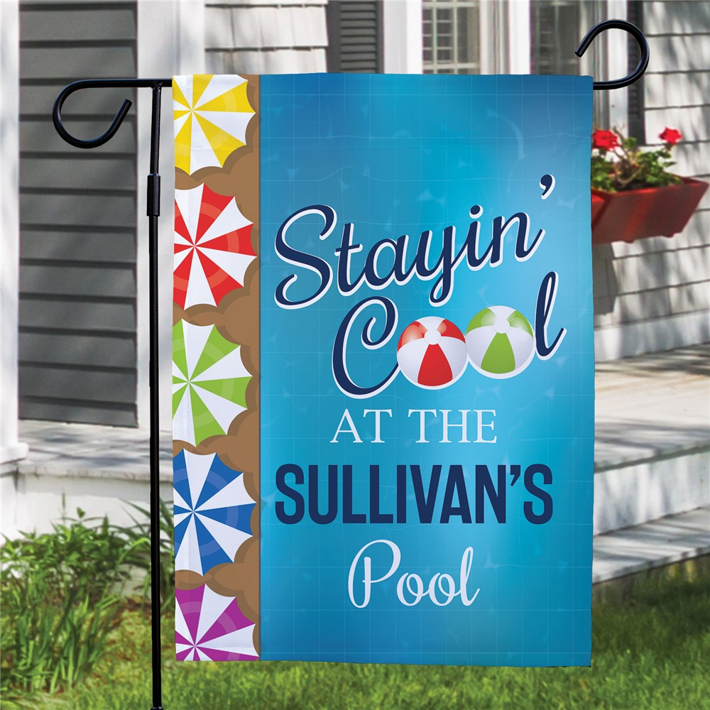 Personalized Stayin' Cool Garden Flag