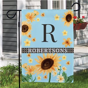 Personalized Sunflowers Garden Flag