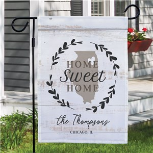 Personalized Home Sweet Home Garden Flag