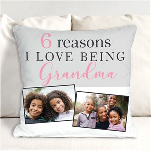 Personalized Reasons I Love Being a Grandma Throw Pillow